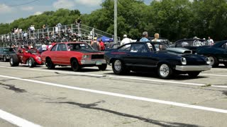 Classic Cars at drag strip Part 2
