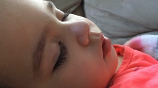 Close of babies face while sleeping