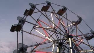 Close up of Ferris Wheel at Night