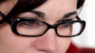 Close up of Girls face with glasses