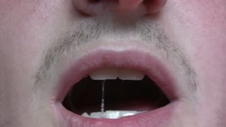 Close-up of mouth talking