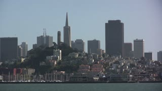 Close up of San Fransisco from Ocean View