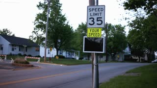 Close up of your speed traffic sign