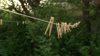 Clothespins on Line