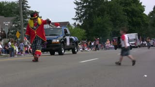 Clowns in 4th of July Parade