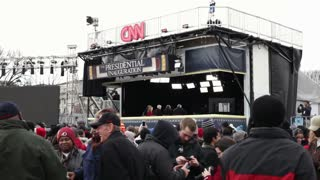 CNN News booth at 2013 inauguration