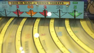 Coin in Slot Bonus Ticket Game