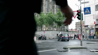 Cologne Cathedral intersection to church tilt