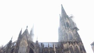 Cologne Dom on spring day tilt shot 4k