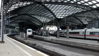 Cologne train station tracks