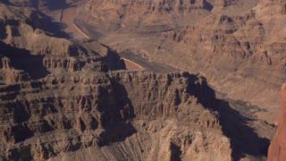 Colorado River going through Grand Canyon Valley tilt shot 4k