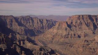 Colorado River through Grand Canyon Valley 4k