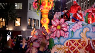 Come Fill the Cup float in mardi gras parade