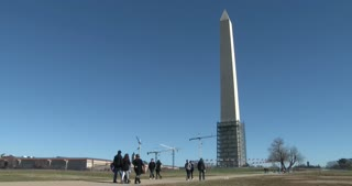 Construction at Washington Monument 4k