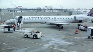 Continental Express Airplane at Cleveland Airport