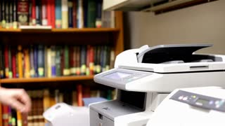 Copying Page on Copy Machine