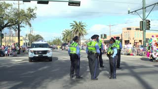 Corner of Endymion parade with Police crew