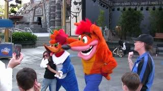 Crash Bandicoot and Woody Woodpecker