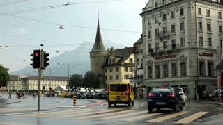 Crosswalk in Luzern Switzerland