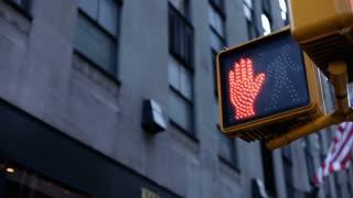 Crosswalk sign in New York