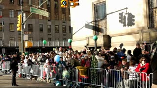 Crowd of people at Central Park west corner