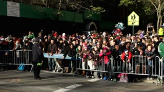 Crowd of people waiting on Macy's Parade