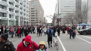 Crowds of People in Washington DC streets