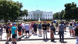 Crowds of people visiting White House in Washington DC 4k