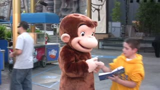 Curious George Signing Autgraphs