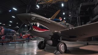 Curtiss P-40E Warhawk aircraft at WPAFB Museum 4k