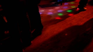 Dance floor at Club with multi colored light