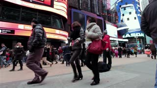 Dancer performing in streets of Times Square