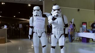 Dancing stormtroopers at museum