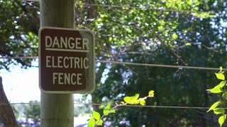 Danger Electric Fence sign 4k