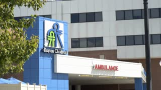 Dayton Children's Hospital Ambulance entrance 4k