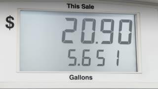 Digital gas station pump meter