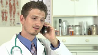 Doctor delivering bad news on the phone