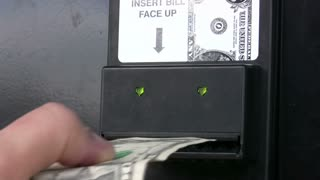 Dollar Bill into and out of machine