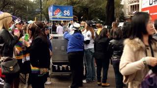 Domino's Pizza cart at Mardi Gras parade 2012