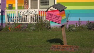 Donation box at Pride house across from Westboro Baptist Church 4k