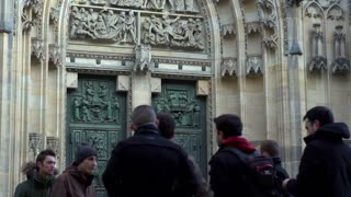 Door to Cathedral of St. Vitus tilt at Prague Castle