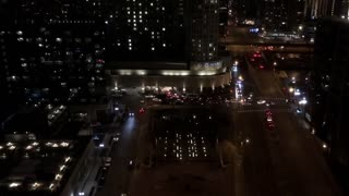 Downtown Chicago traffic time lapse