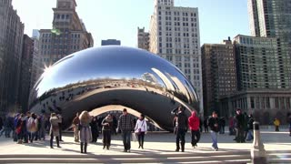 Downtown Chicago with Cloud Gate