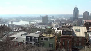 Downtown Cincinnati city and buildings