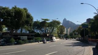 Downtown city traffic of Rio de Janeiro 4k