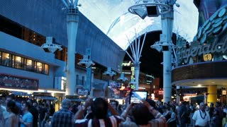 Downtown Fremont street during light show