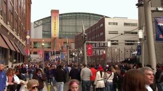 Downtown Indianapolis Stadium Super Bowl 46
