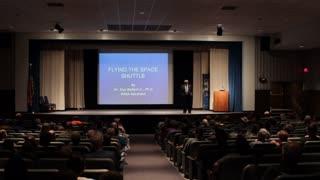 Dr Guy Bluford Jr speaking at Spacefest 2012 wide