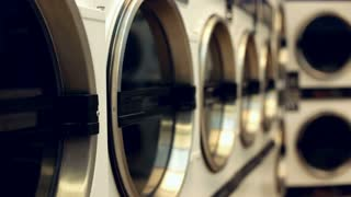 Dryers at the laundromat