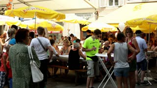 Eichhof beer umbrellas at Luzern Fest 2012